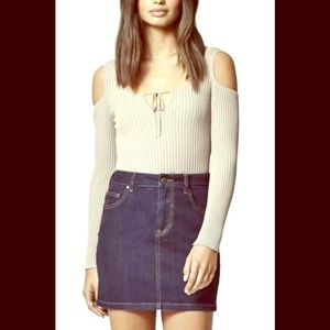 PacSun Highwaisted Denim Navy Blue Mini Skirt 27